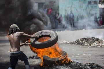 6月に起きたデモの様子 © Jeanty Junior Augustin/MSF