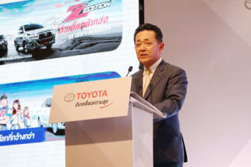 Toyota Motor Thailand President Michinobu Sugata said in Bangkok on Wednesday that the local car market is good but sales will drop this year.
