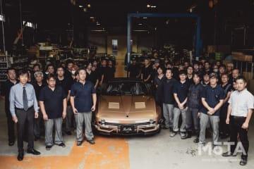光岡 50周年記念モデル「ロックスター」がラインオフ 初号車オーナーを招いてセレモニー開催