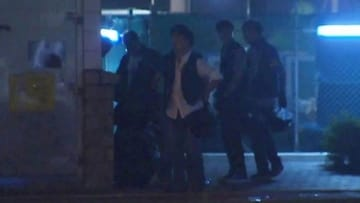 The beating of Ken Tsang by seven police officers was caught on television cameras. Photo: TVB screenshot.
