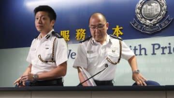 John Tse and Anthony Tsang. Photo: Apple Daily.