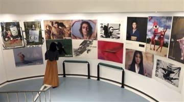 パルコの歴代の広告ポスターを集めた「ポスター展」=熊本市中央区の熊本パルコ