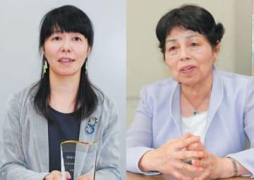 (左)「女性のチャレンジ賞」に選ばれた大山直美さん、(右)「男女共同参画社会づくり功労者」として内閣総理大臣表彰を受けた後藤ミツノさん