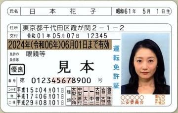 道路標識 運転免許証(見本)