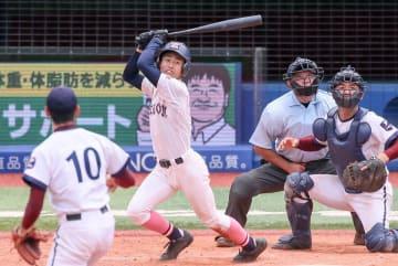 【日大藤沢-桐光学園】7回、日大藤沢の姫木勝ち越し犠打
