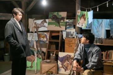 NHK連続テレビ小説「なつぞら」第102回の雪次郎(山田裕貴さん)と天陽(吉沢亮さん)の再会シーン (C)NHK