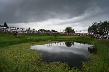 写真は大会3日目 厚い雲が空を覆っている(撮影:GettyImages)