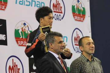 ベスト・テクニック賞を受賞した63kg級優勝の太田忍(ALSOK)