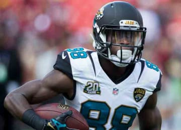 Allen Hurns with the Jaguars in 2014