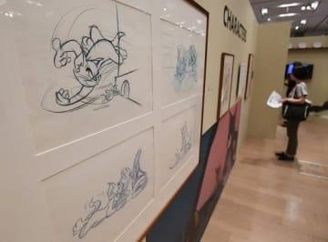 アニメ「トムとジェリー」の貴重な資料が展示された会場=大阪市中央区の大丸心斎橋店