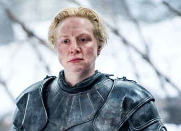 Gwendoline Christie as Brienne of Tarth on Game Of Thrones