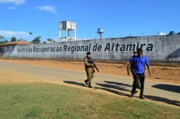 暴動が起きたブラジル・アルタミラの刑務所=29日(ロイター=共同)