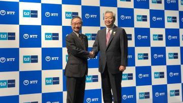 東京メトロ代表取締役社長:山村明義氏(写真左)とNTT代表取締役社長:澤田純氏(写真右)