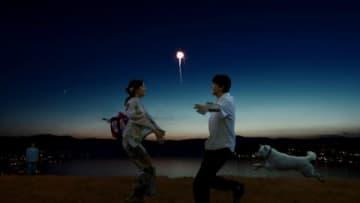 吉沢亮さんと広瀬すずさんが出演する「SoftBank music project」の新テレビCMのワンシーン