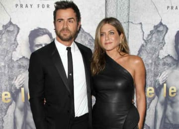 Premiere of HBO's 'The Leftovers' Season 3 - Arrivals: Justin Theroux, Jennifer Aniston