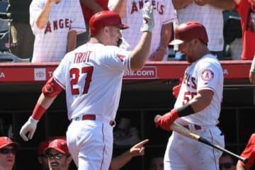 35号本塁打を放ったエンゼルスのマイク・トラウト【写真:Getty Images】