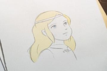NHKの連続テレビ小説(朝ドラ)「なつぞら」第106回に登場した仲(井浦新さん)が描いたキアラ (C)NHK