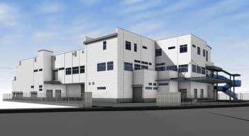 進々堂が伏見区に建設する新しい本社工場の外観イメージ図