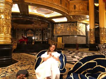 マカオのリゾートホテルを訪れたエンレイさん(写真:office en-Ray)