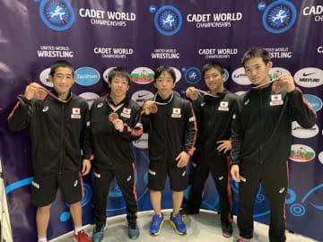 5選手が銅メダル獲得=チーム提供