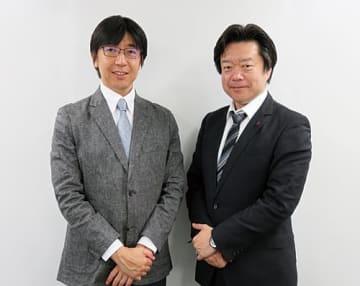 ソフトクリエイトの植松卓部長(右)とパロアルトネットワークスの神田正次郎マネージャー