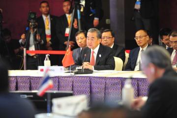 王毅氏、中国・ASEAN外相会議出席 関係発展重視