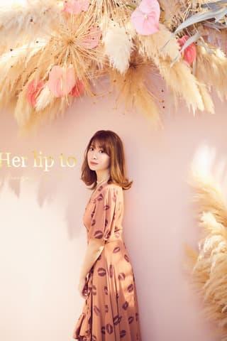 プロデュースブランド「Her lip to」の期間限定ショップをオープンした小嶋陽菜さん