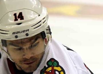 Chicago Blackhawks forward Chris Kunitz in 2019