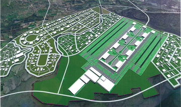 An image of the New Manila International Airport to be built in the province of Bulacan, northwest of Metro Manila. (Photo: The Department of Transportation)