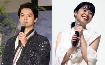 連続ドラマ「ルパンの娘」に出演している瀬戸康史さん(左)と岸井ゆきのさん