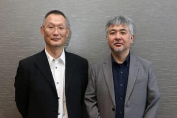 劇場版アニメ「ドラゴンクエスト ユア・ストーリー」で監督を務めた八木竜一さん(左)と花房真さん