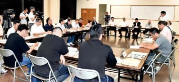 新居浜市太鼓祭り推進委員会の2019年度初会合=2日夜、同市一宮町1丁目