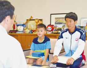 全国大会に出場する丹羽君(左)と井上さん