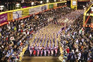 2017年の徳島市の阿波おどりでフィナーレを飾った「総踊り」(同市提供)