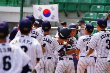 韓国相手にサヨナラ勝利を収めた侍ジャパンU-12代表の選手たち【写真:Getty Images】