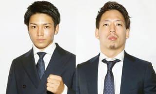 18歳・近藤魁成(左)をキャリアで上回る松岡力(右)が迎え撃つ(C)M-1 Sports Media