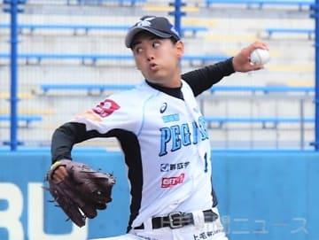 群馬―茨城 被安打5で今季初完封の庄司=太田運動公園野球場