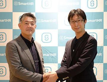 PCAの伊藤真一郎部長(左)とSmartHRの倉橋隆文COO