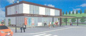 JR登別駅前に整備する拠点施設のイメージ