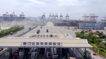 中国初の全自動化コンテナふ頭 福建省
