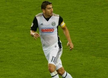 Alejandro Bedoya with the Philadelphia Union in 2017