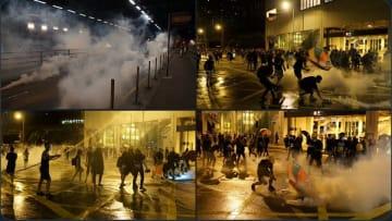 Tear gas in Tuen Mun. Photo: Kris Cheng/HKFP.