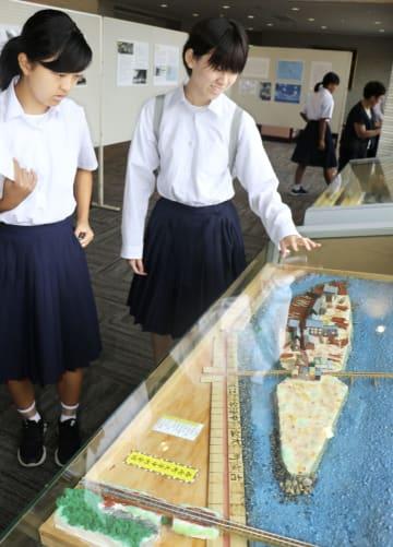 和歌山県串本町で始まった「第五福竜丸」被ばく65年の歴史展=6日午前