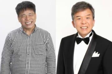 始球式を務めることが発表されたジミー大西さん(左)と村上ショージさん【写真提供:(C)SoftBank HAWKS】