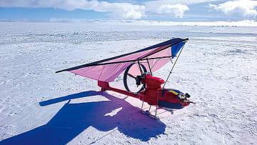 ▲南極大気調査用ドローン写真提供:㈱スカイリモート