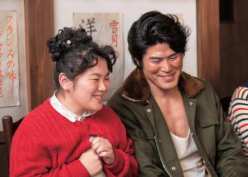 NHKの連続テレビ小説「なつぞら」第110回で結婚が判明した門倉(板橋駿谷)と良子(富田望生さん) (C)NHK