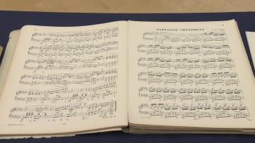 展示予定のショパン「幻想即興曲」の楽譜