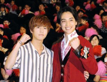 イベントに登場した奥野壮(左)と一ノ瀬颯=東京都内