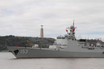 中国海軍の駆逐艦「西安」、リスボン港に到着