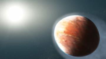 太陽系外惑星WASP-121bのイメージ図。(c) NASA, ESA, and J. Olmsted (STScI)